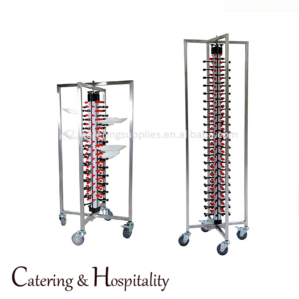 kitchen high stability Stainless steel Mobile Adjustable Plate Rack 48/84-plates storage jack stack