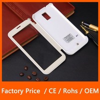 Transparent Window View Flip Leather Cover Battery Case For Samsung Galaxy S5