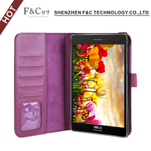 2017 trending products tablet case design for asus zenpad 8.0 cover case book style new premium case with band and card slots