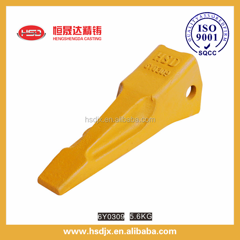 Engineering parts 6Y0309 ripper tooth for dozer