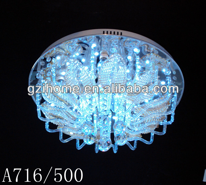 Contemporary innovative modern led crystal ceiling lamp
