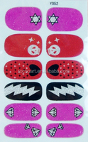 Y5052/Star Diamond Heart Skull Design Nail Foil Art Sticker,Nail Wraps