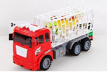 33CM Children Inertia Toys Truck Carrying Animals Friction Car