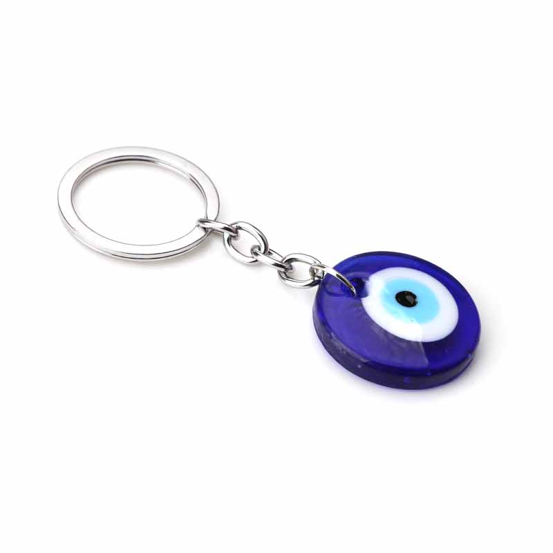 Wholesale Turkish Evil Eye Key Chain Blue Glass Keyring Women Men ... 499dbb14a0