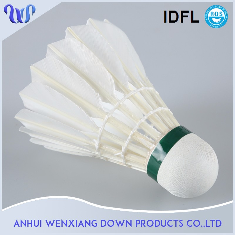 Anhui Factory High Quality Badminton Shuttlecock Combat Shuttlecock Badminton <strong>01</strong> Used White Duck Feather