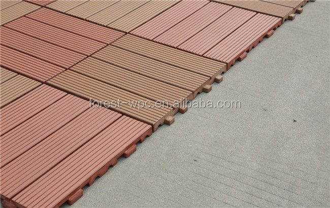 Factory Supply Wood Plastic Composite Decking/ DIY Decking Tiles/ Interlock Balcony tile