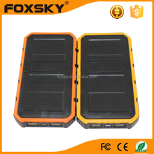 Outdoor Travel Solar Power Bank Portable Solar 8000mAh Battery For Mobile Phone Charger Power Bank
