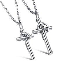 316 Stainless Steel Jewelry Classic Cross Pendant Necklace