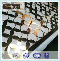 quality product made of laser cutting finish /decorative stainless steel sheet fo elevator