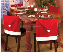 2017 Cheap Part Custom red santa hat christmas decoration christmas chair cover for home party decoration