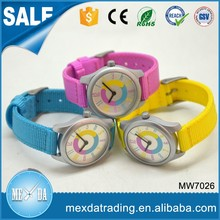 Hot selling design manufacturers promotional gift nylon strap child China watch factory