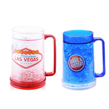 New Pattern Double Wall Cooler Beer Freeze Mug With Handle