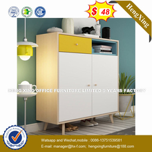 New design flower white melamine chipboard aluminium cabinet with doors (HX-8NR0766)