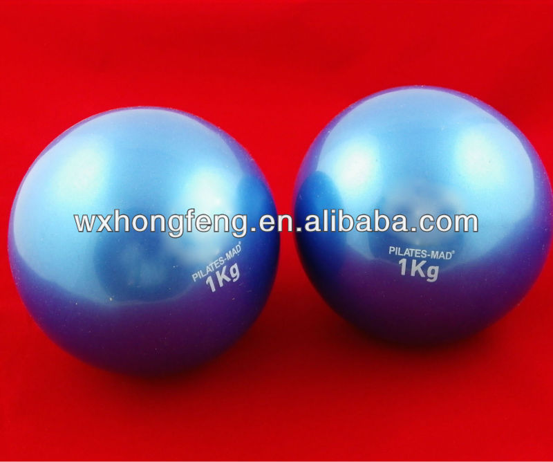 plastic sand filled hand weight ball