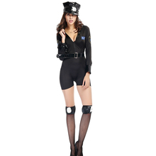 Lynmiss Sexy Lingerie One-Piece Pants Policewomen Cosplay Halloween Performance Costume For Women