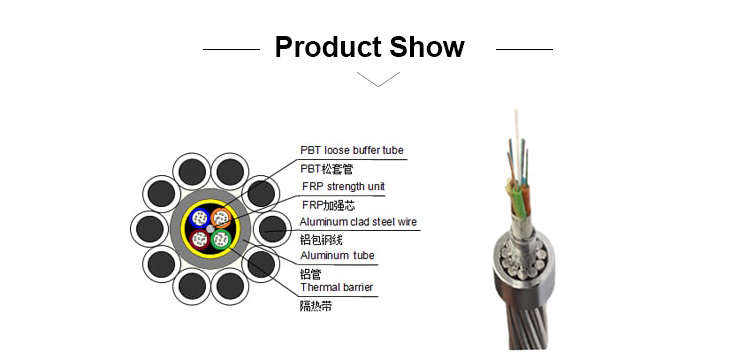 Good Anti-lightning 36 Core Alumacore Optical Ground Wire Opgw - Buy ...