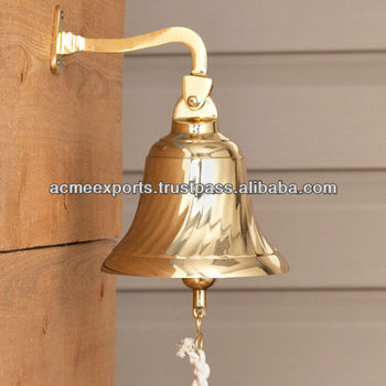 Brass Polish Ship Bells With Mount Fitting