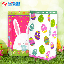 Easter Paper Bags for Kids - 24 Pack Easter Egg Bunny Party Bags for decoration Easter Party bag