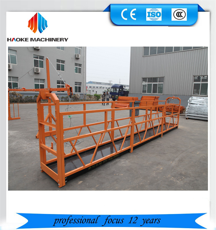 Electric steel suspended platform / building gondola / construction lifting table ZLP630