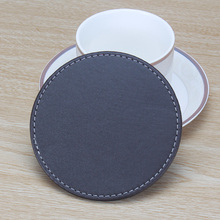 Wholesale PU Leather Cup Mat Pad Leather Tea Cup Coaster Leather Placemats and Coasters