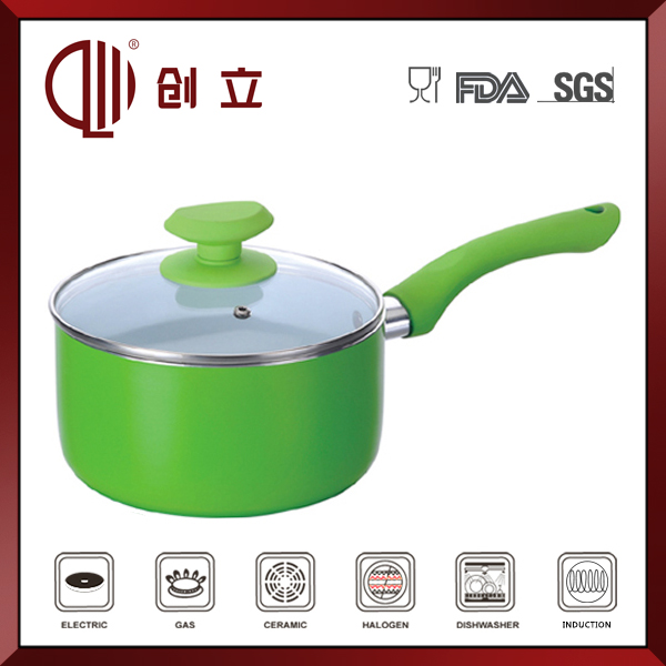non stick clear glass sauce pan