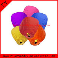 Hot sale Wholesale Flying Wishing Paper Sky Lantern Lamp Candle Party Wedding Wish paper lantern