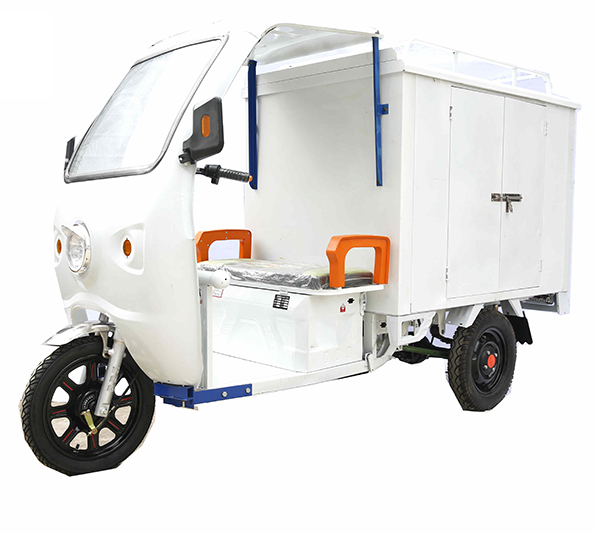 Three wheel Express car with van 48V 1000W electric van tricycle