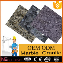 High polished glossy ice blue granite slab