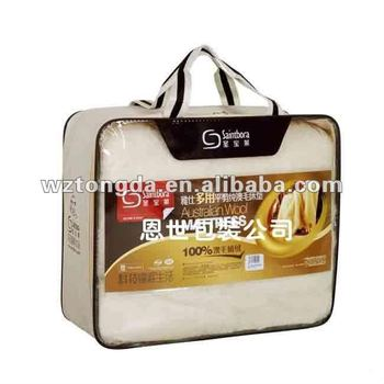 Transparent PVC absorbent felt zipper bag with/without wire frame(WZ5044)