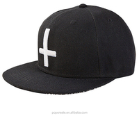 cross 3D embroidery with back side printing hip pop baseball Snapback flat caps