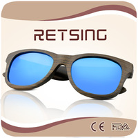Simple Elegant Cool Fashion wooden sunglasses with Ebony frame