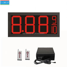 Big Size 3G Wireless Control Waterproof 12 inch 7 Segment LED Fuel Price Display