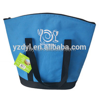 Blue color frozen fitness lunch cooler bag with embroidery logo