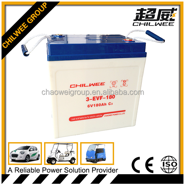 Maintenance Free (MF) Battery for electric car, electric tricycle, 6V 180Ah