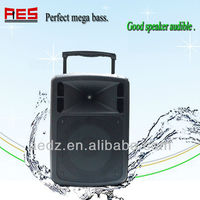 "Portable 12"" wireless USB SD school speaker system karaoke outdoor pa speaker"