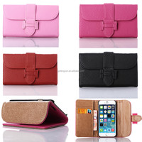New arrivral OEM manufacture leather belt clip flip wallet case for iphone 6