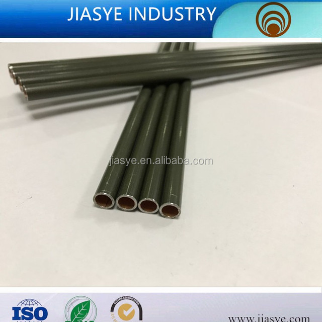 SAE J527 ST14 6.35*0.5mm PVF coated double wall steel pipe bundy tube for brake pipe line of automobile