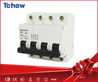 4 poles 16 amp miniature electrical low-voltage protection circuit breaker switch manufacturer