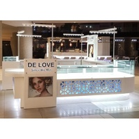 Attractive jewellery display kiosk and jewellery shop furniture design mall display kiosk for jewelry