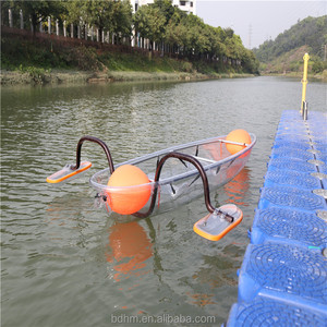 Amazing Polycarbonate Canoes, transparent kayak with Two paddles