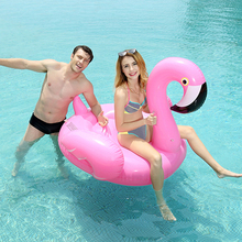 Water sport pool toys giant pink inflatable pool float flamingo