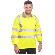 oem hot sale hi vis reflection safety polo shirt with reflective tape in work polo shirts