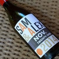 Fancy wedding wine bottle label