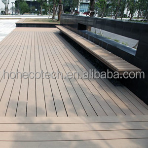 Extruded Plastic Composite Decking , Tongue and Groove Composite Deck