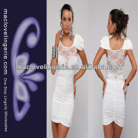ML17785 Wholesale Cheap Price Slimming Elegant Adult Lace White women smart casual dress