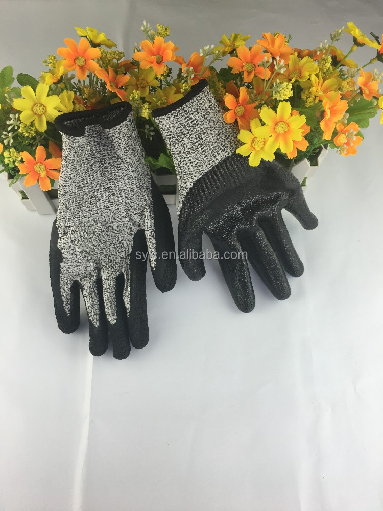 high quality HPPE cut resistant gloves made in china safety work gloves protection from knives