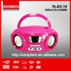New product RLBX-19 USB AUX-IN Battery powered bluetooth portable multiple cd player with buil in speaker