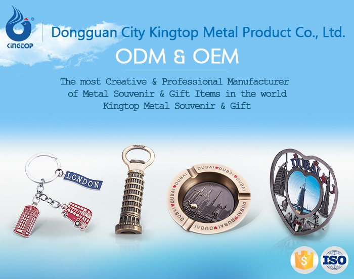 High Standard Zinc Alloy Travel Souvenir Metal Wall Mount Bottle Opener