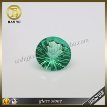 12mm Round football faceted cut Emerald decorative glass stones wholesale