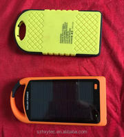 Outdoor waterproof solar mobile power bank charger 8000mAh
